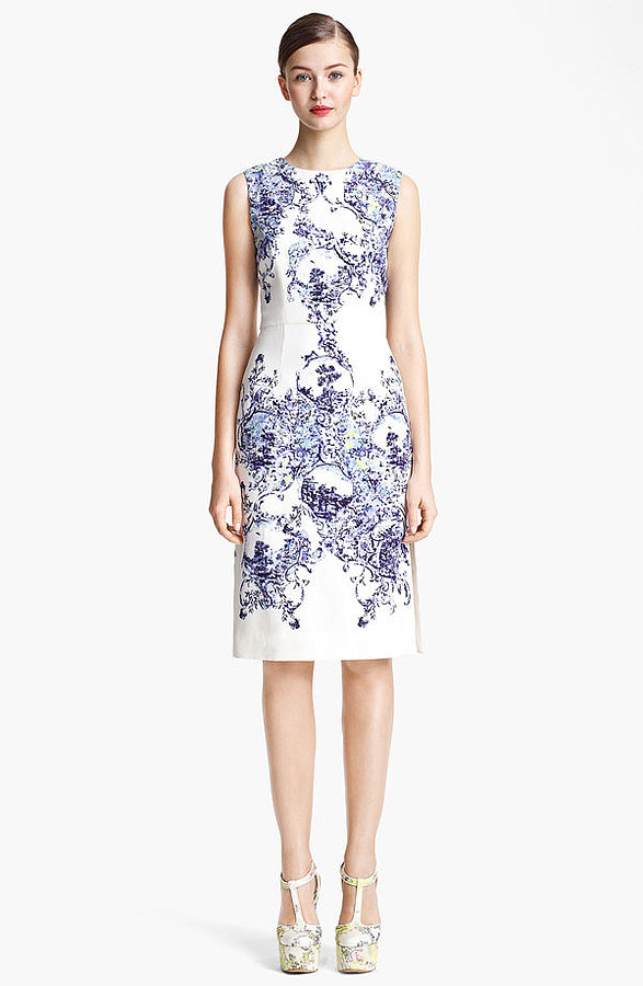 "An investment for sure, but this Erdem Milandes print crepe back satin sheath dress ($1,750) is the kind you'll wear season after season. The classic silhouette and gorgeous print will always be ""in."""