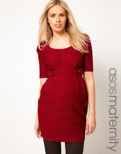 ASOS Maternity Dress In Textured Fabric
