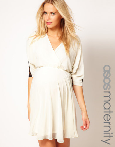 ASOS Maternity Skater Dress With Contrast Lace