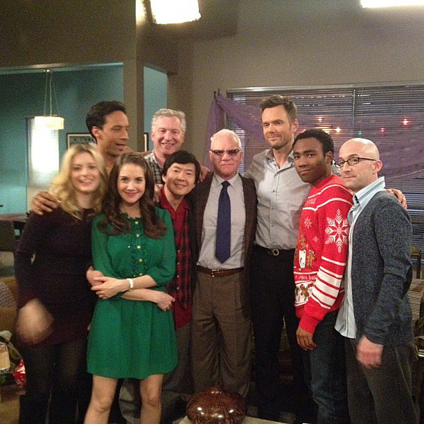 Gillian Jacobs shared a picture of returning Community guest star Malcolm McDowell. Source: Instagram user gillianjacobs