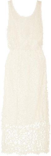 Alice + Olivia Rozzi lace and silk-chiffon dress