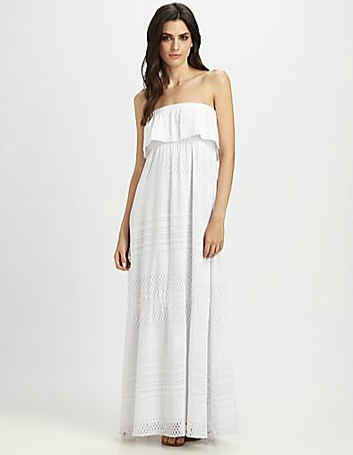 A perfect choice to beat the heat at a Summer wedding, this breezy silhouette by Melissa Odabash dress ($355) is as pretty as it is functional.
