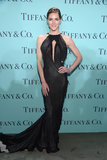Hilary Rhoda donned a black Donna Karan Atelier gown featuring a sexy keyhole slit.