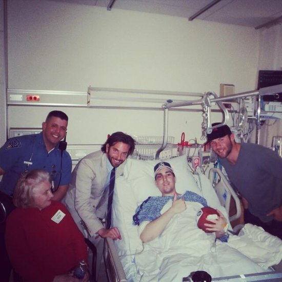 Bradley Cooper Pays a Special Visit to Boston Marathon Bombing Survivor