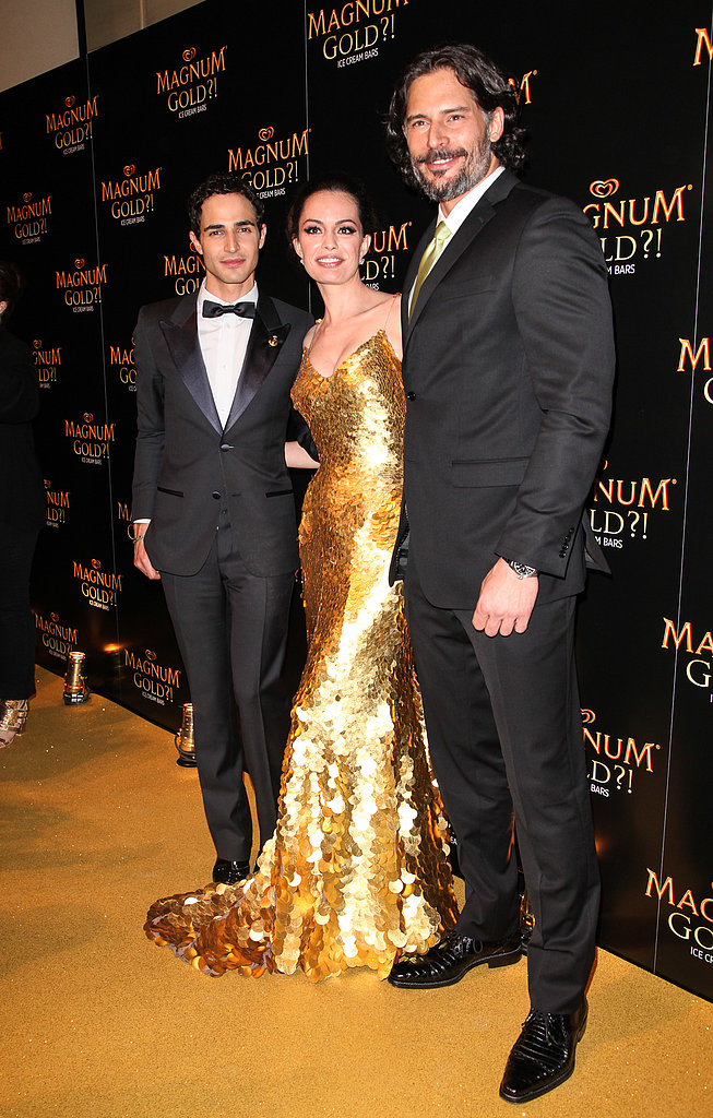 Joe Manganiello and Caroline Correa were joined by Zac Posen, who designed Caroline's gown.