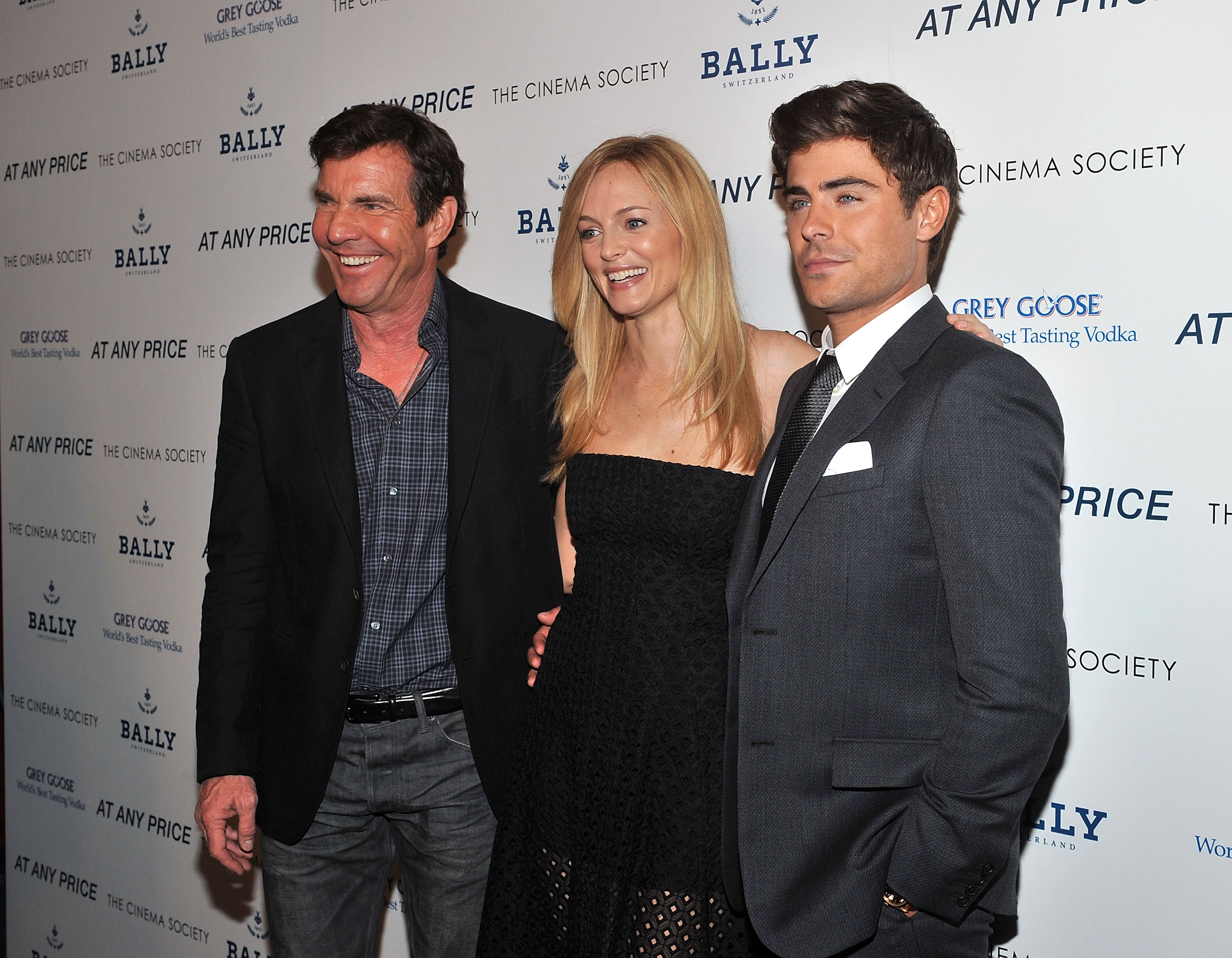 Dennis Quaid, Heather Graham, and Zac Efron got together for the premiere of At Any Price.
