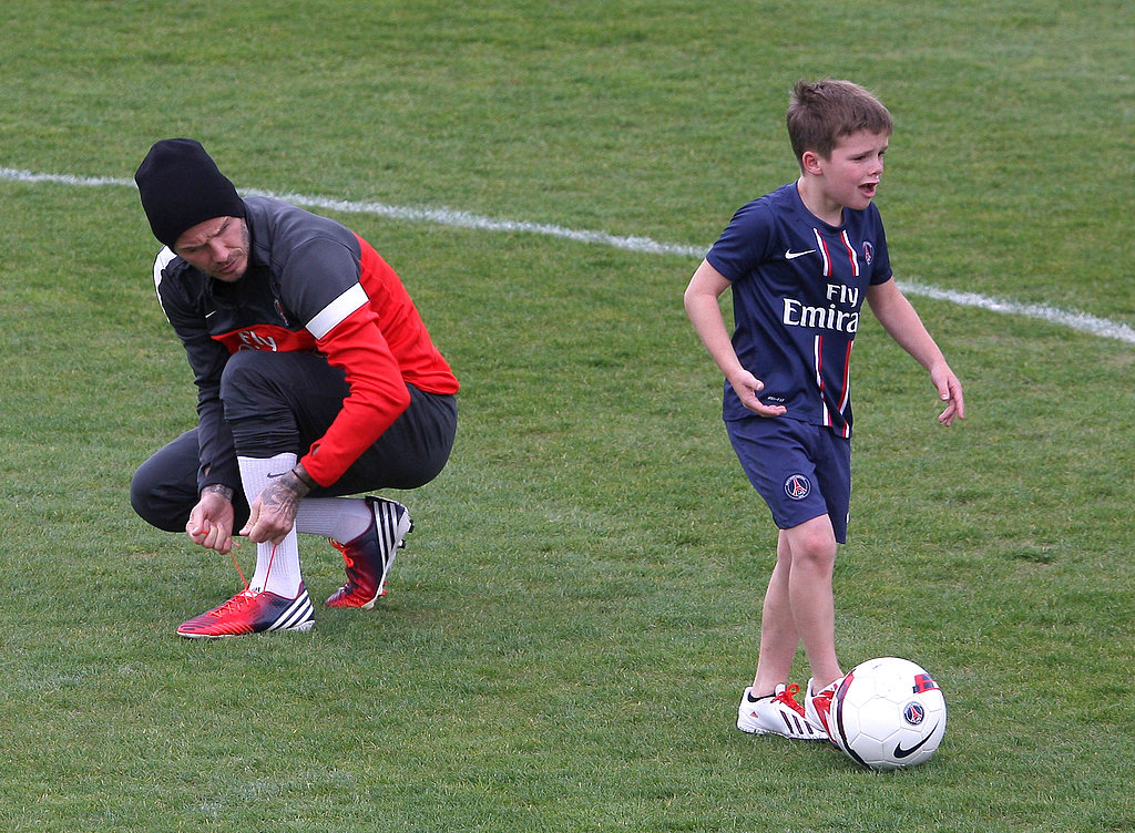 David Beckham watched Cruz show off his soccer skills in Paris.