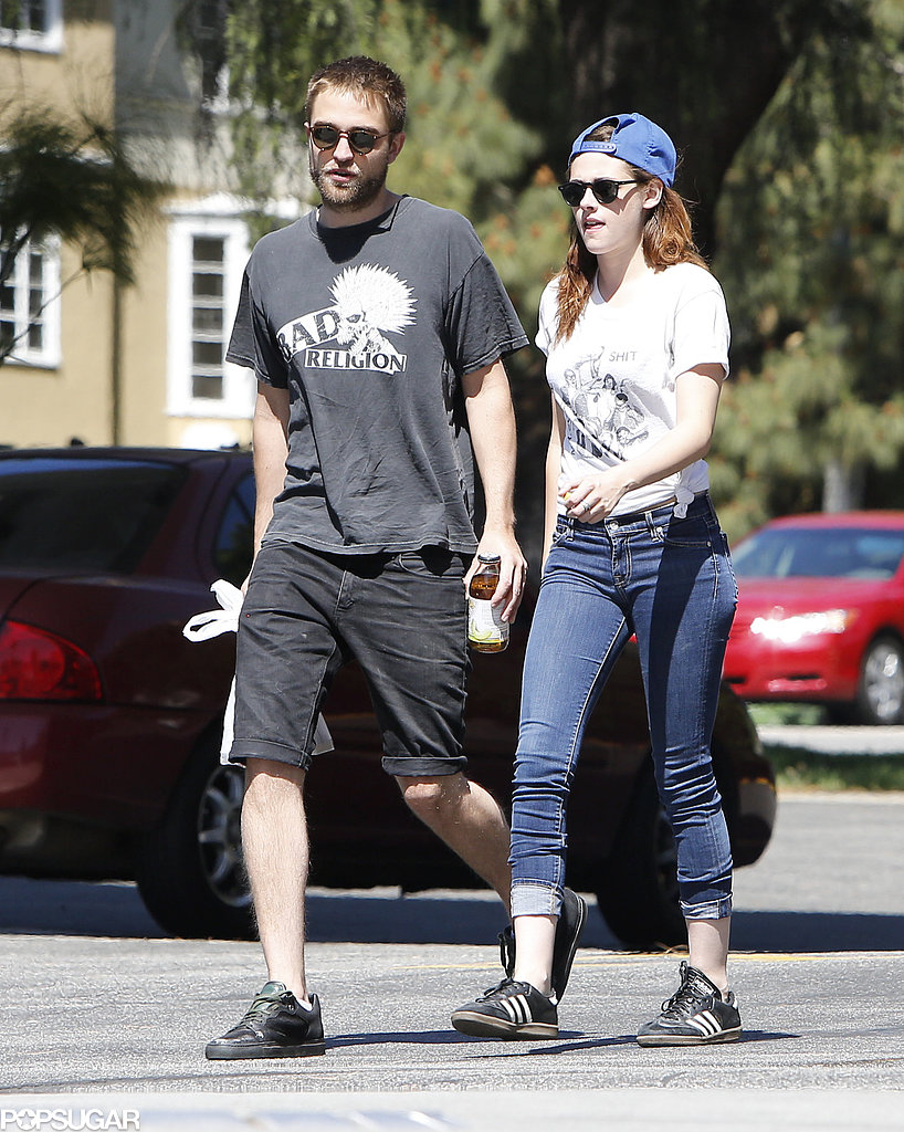 Robert Pattinson Gets Cute With His Pup During an Outing With Kristen Stewart