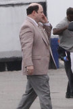 Jason Alexander talked on the phone on Tuesday while shooting scenes in New Orleans for Heat.
