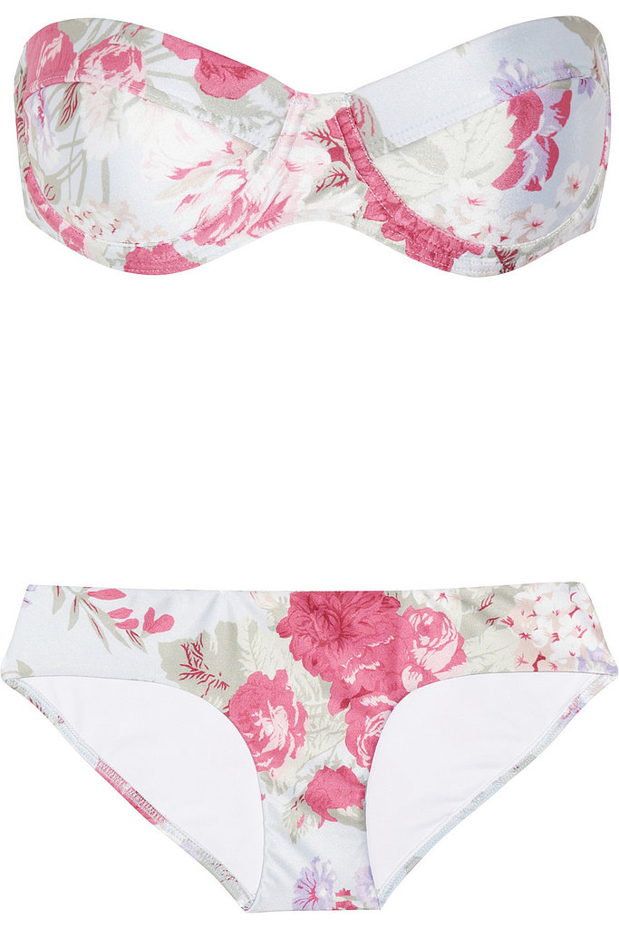 First things first: a beautiful bikini, like this Zimmermann Jade Printed Underwired Bikini ($250) — the sweet print is inherently bridal and a pretty extension of your wedding-day look.