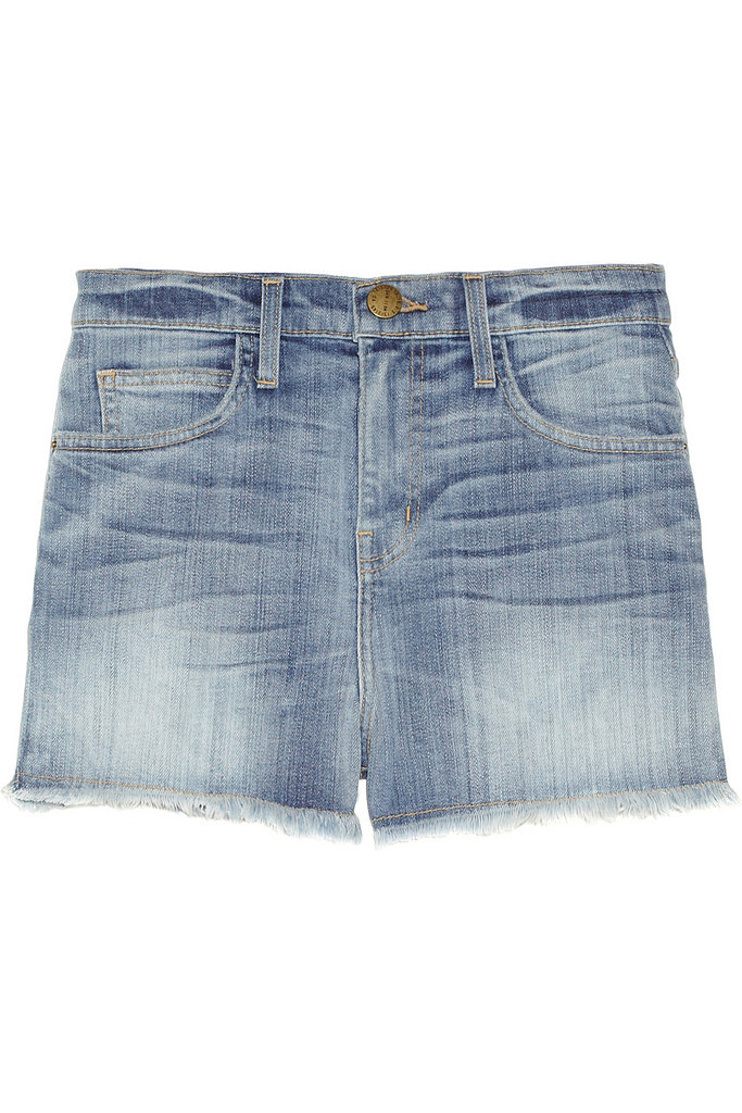You can slip on a pair of denim cutoffs — like Current/Elliott's High-Waist Denim Shorts ($178) over your swimsuit, or wear them while sightseeing with a t-shirt, scarf, and comfy flats.