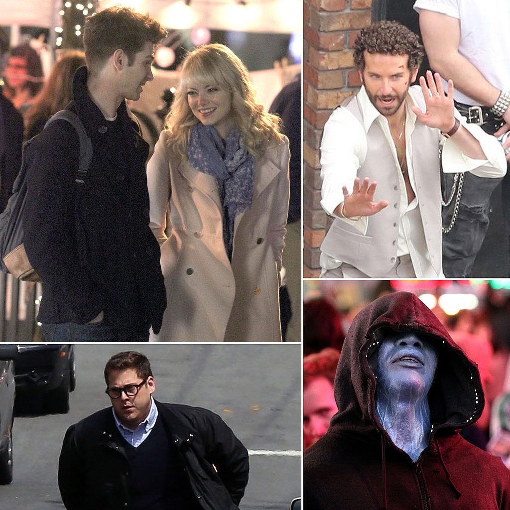 Emma Stone, Andrew Garfield, Bradley Cooper, and More Stars on Set