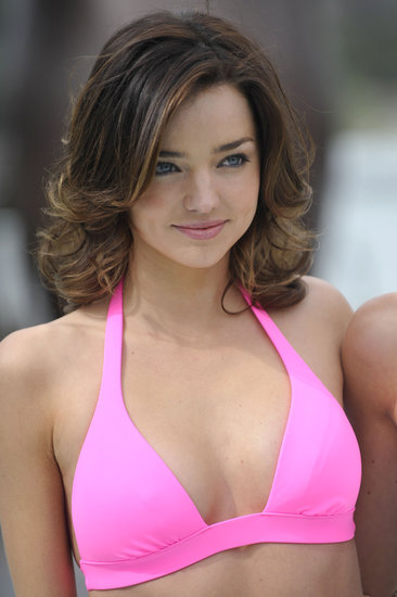 Miranda sported a shorter crop and a pink bikini at the celebration of the 15th anniversary of the Victoria's Secret Swim catalogue in 2010.