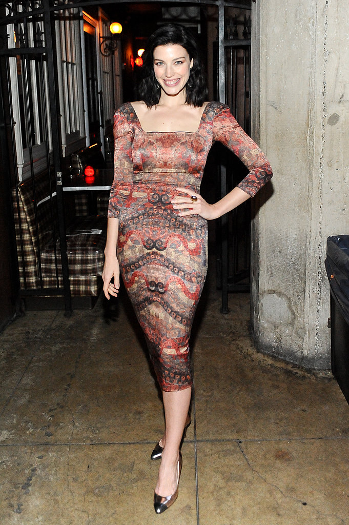 Jessica Paré wore Fall 2013 L'Wren Scott at LA Confidential's Spring issue celebration.