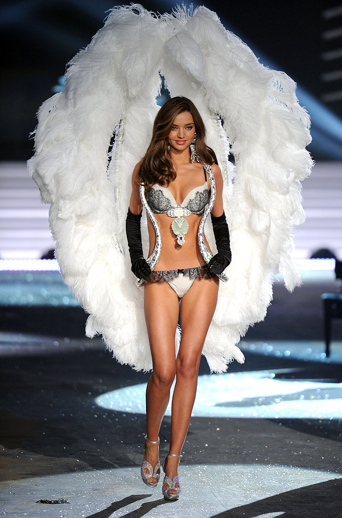 Miranda Kerr showed off her wings in a blinged-out suit at the Victoria's Secret Fashion Show in November 2012.
