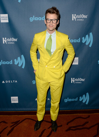 Brad Goreski made an entrance in a bold yellow suit and his signature specs.