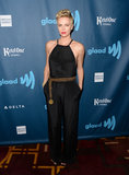 Charlize Theron ditched the dress and opted for a halter-style Jason Wu jumpsuit.