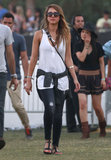 Jessica Alba took in the second weekend of Coachella with husband Cash Warren.