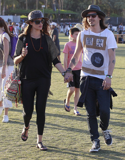 Cisco Adler held hands with his girlfriend at weekend two of Coachella.