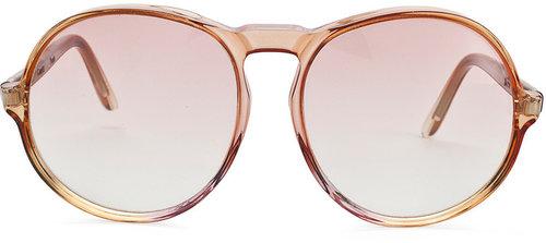 Vintage Comex Round Rose-Tinted Sunglasses