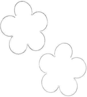 Andrew Hamilton Crawford Large Flower Hoop Earrings