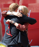 Prince Harry hugged Isabella Calthorpe.