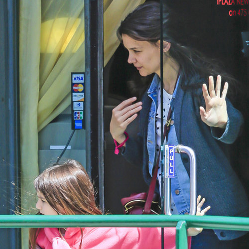 Katie Holmes and Suri Cruise at Nail Salon
