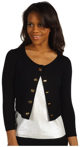Calvin Klein - Grommet Shrug Sweater (Black) - Apparel