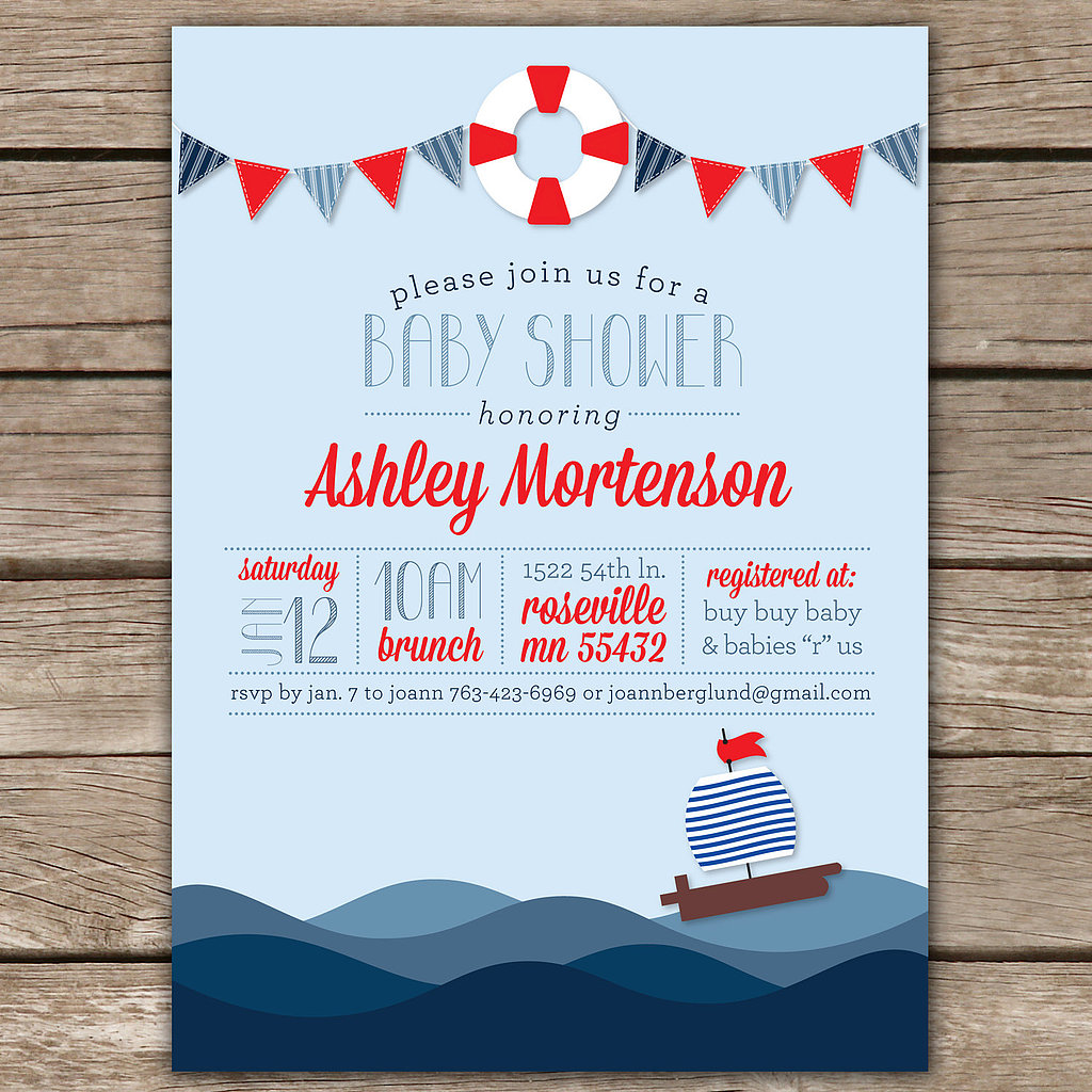 Kim Nelson Creative's Nautical Shower Invite
