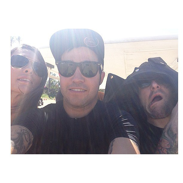 Pete Wentz rode around in a golf cart at Coachella. Source: Instagram user petewentz