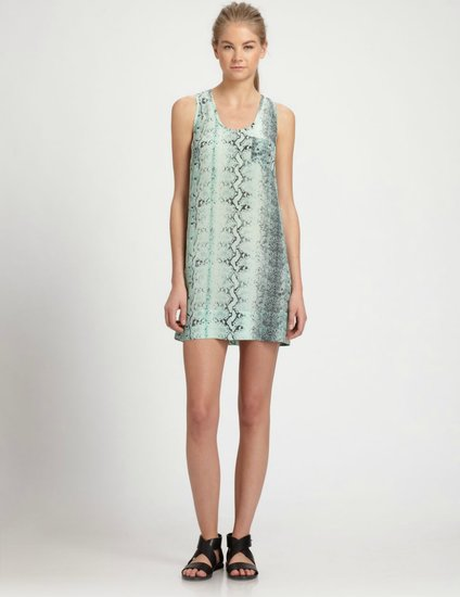 Joie's Snakeskin Print Silk Dress ($156, originally $208) can easily take you from daytime errands to cocktails with just a few accessory swaps.