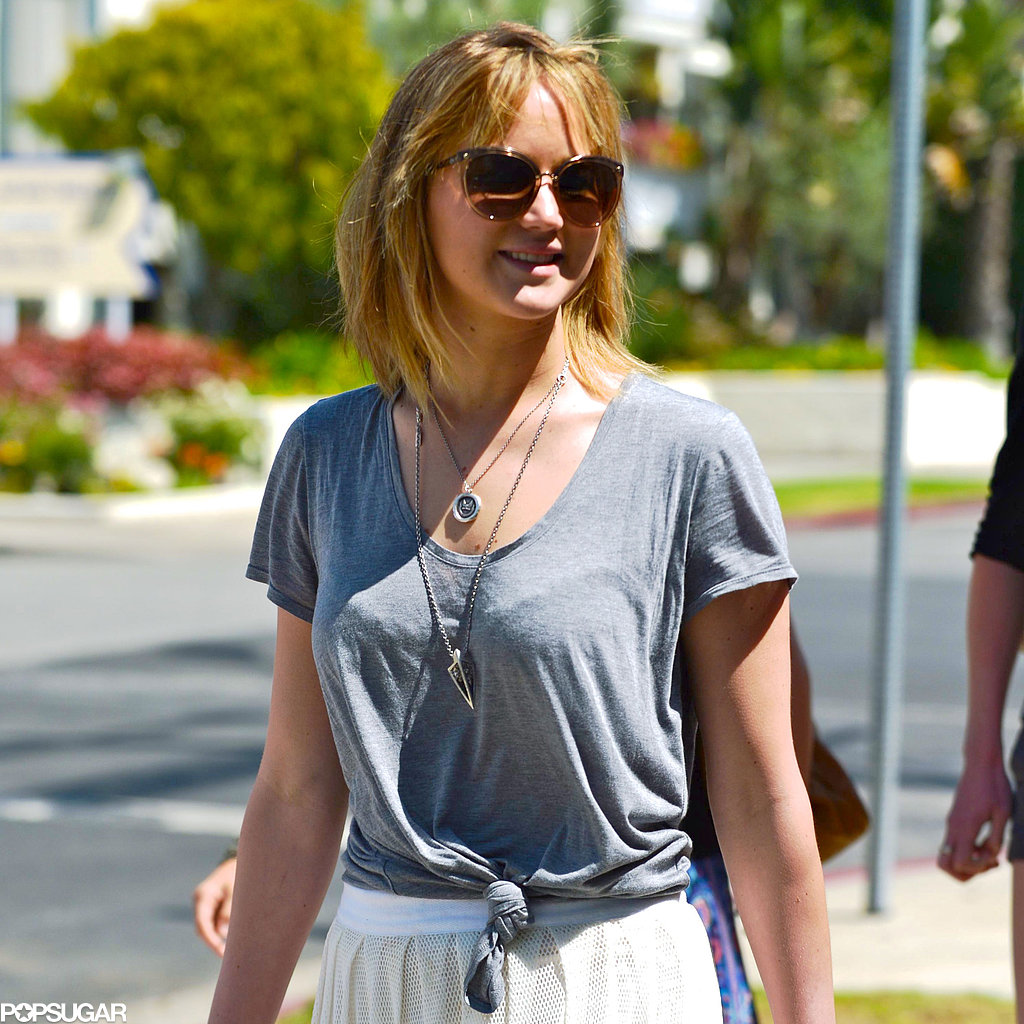 Jennifer Lawrence showed off her short haircut.