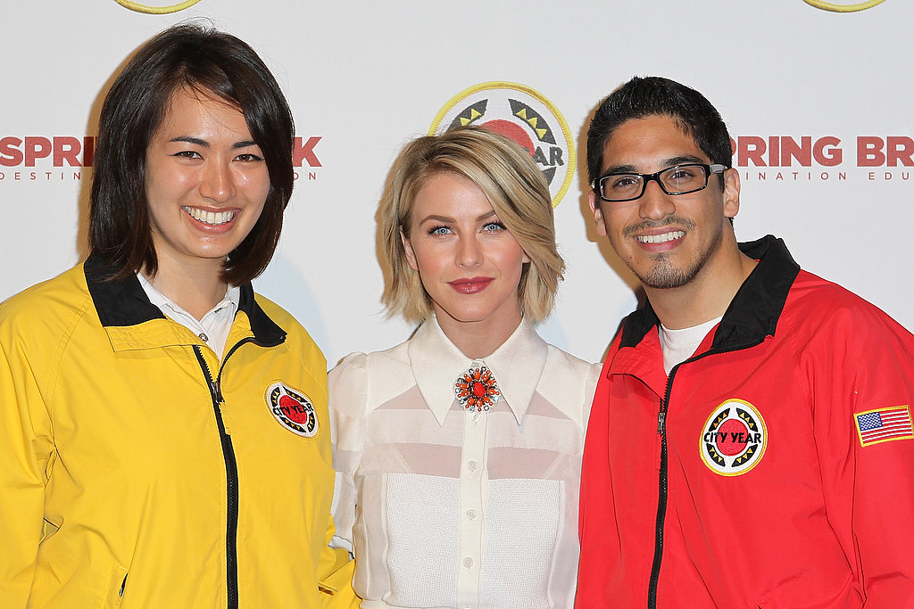Julianne Hough posed with AmeriCorps members at the Spring Break: Destination Education annual party.