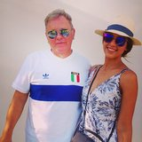Jessica Alba met up with New Order rocker Bernard Sumner during the festival. Source: Instagram user jessicaalba