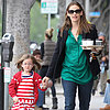 Jennifer Garner and Serapina Get Coffee in LA