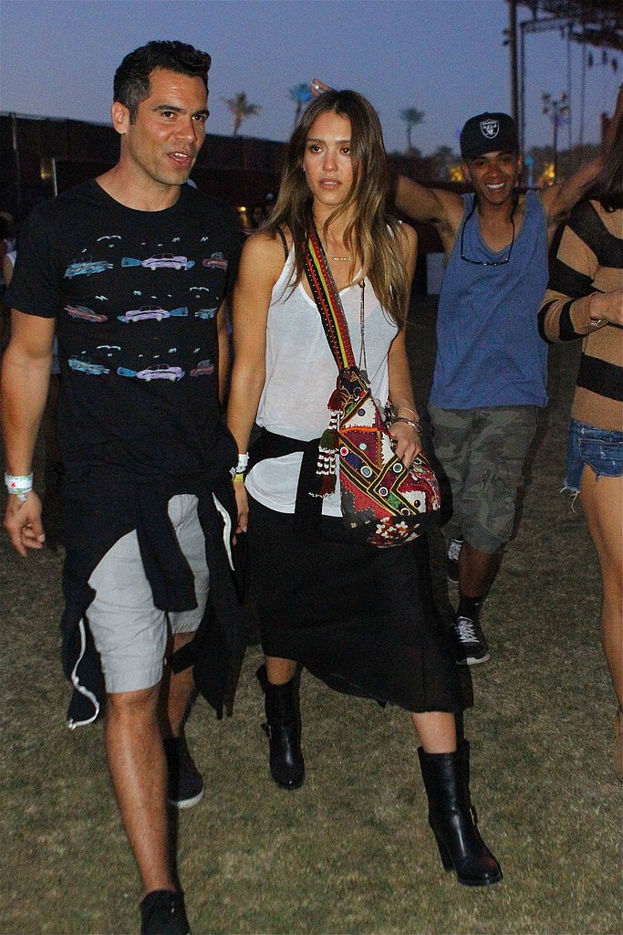Cash Warren and Jessica Alba enjoyed Coachella in 2013.