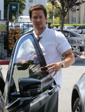 Mark Wahlberg got into his car on Monday in LA.