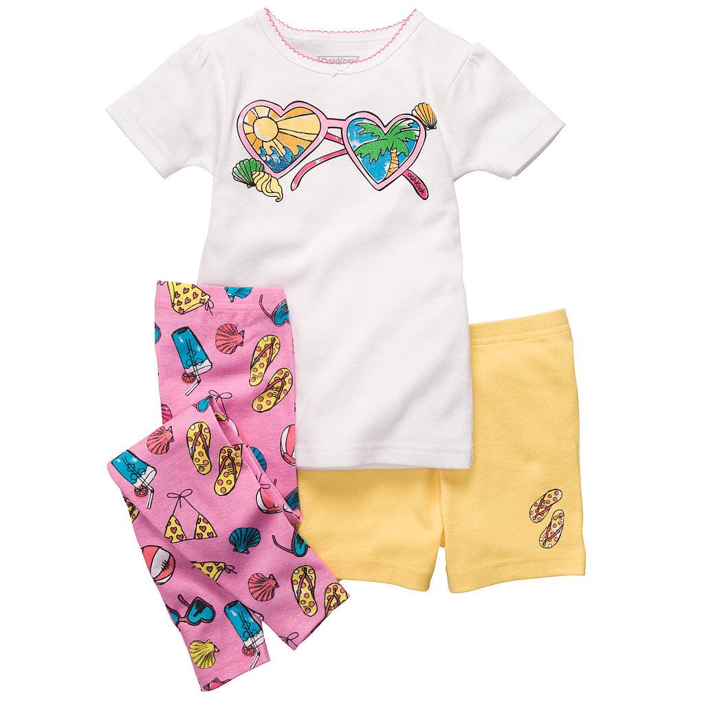 Get her ready for bed and Summer in this cotton beach-themed set ($18).