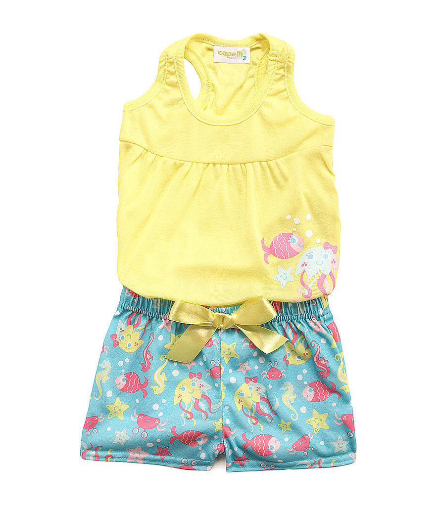 "Keep her cool and ""koi"" in this fish-print pajama set ($17)."