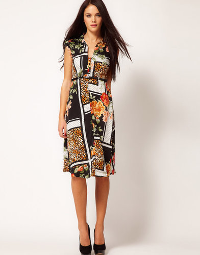 River Island Chelsea Girl Animal & Rose Tea Dress