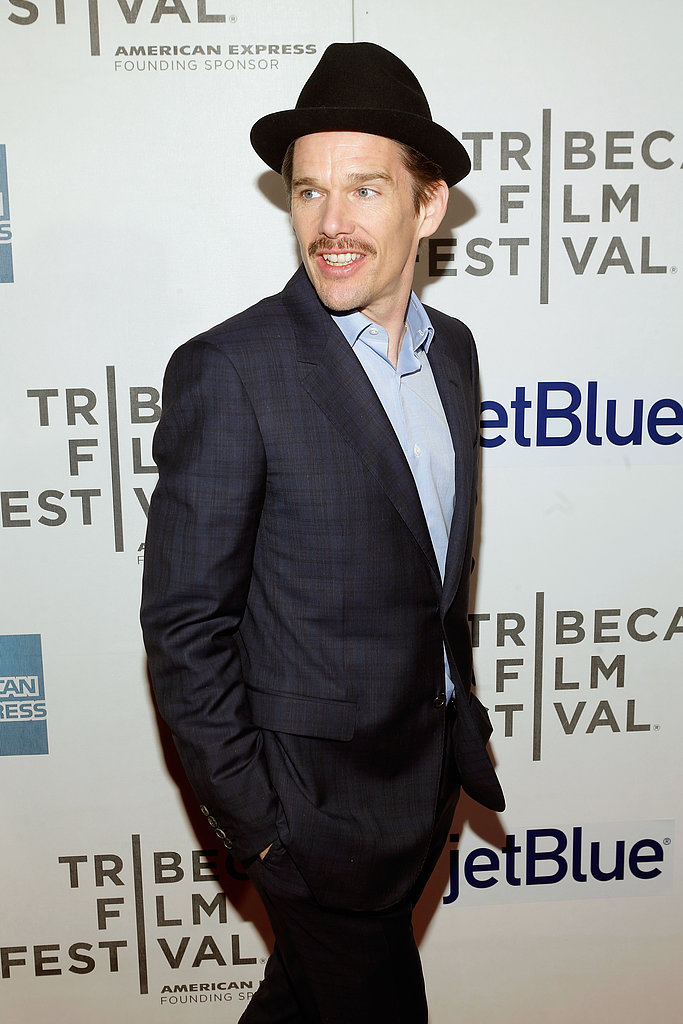 Ethan Hawke wore a fedora to the premiere of Before Midnight.