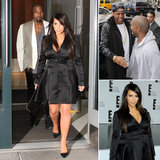 Kim Works Her Baby Bump While Kanye Meets Up With Jay-Z