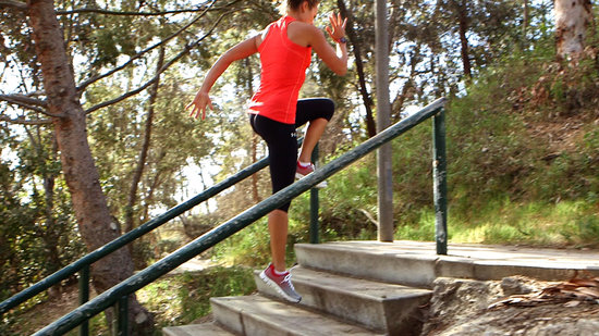5 Moves to Tone Your Legs and Torch Calories on the Stairs