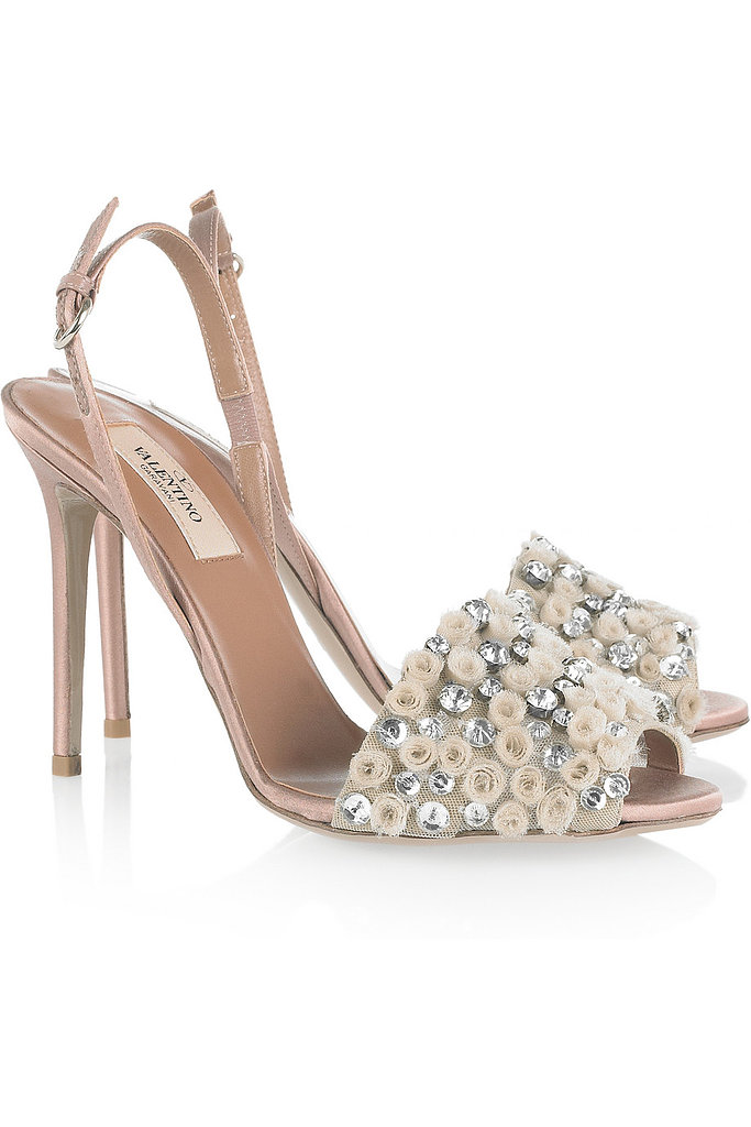 Valentino crystal-embellished satin sandals ($499, originally $995)
