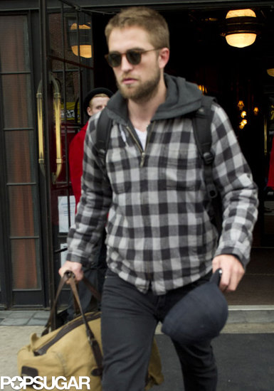 Robert Pattinson left his hotel in NYC.