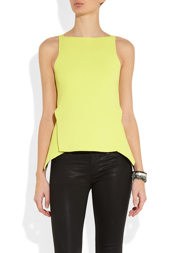 Peplum in the sleekest way possible, that's how Alexander Wang rendered the trend with this Double-Faced Stretch-Jersey Peplum Top ($625).