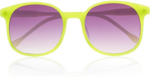 Linda Farrow for Matthew Williamson Square-frame acetate sunglasses