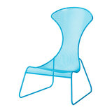 Ergonomically-pleasing and eye-catching in bright blue mesh, this Easy Chair ($149) is a no-brainer.