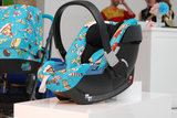 The Cybex by Jeremy Scott Aton 3 car seat.