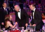 Jessica Biel, Joe Biden, and Justin Timberlake conversed over dinner.